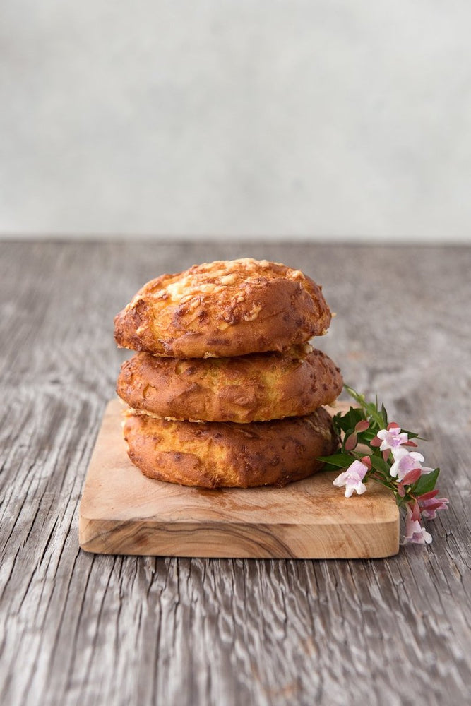 gluten free cheese buns with flowers