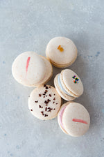 variety gluten free macarons top view