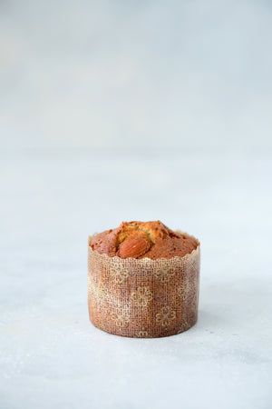 Load image into Gallery viewer, gluten free almond lemon poppyseed teacake in small panettone wrapper