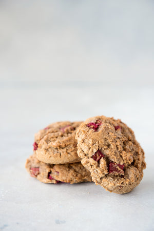 Load image into Gallery viewer, 3 gluten free vegan maple strawberry scones