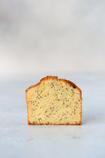 cut face gluten free almond lemon poppyseed tea cake