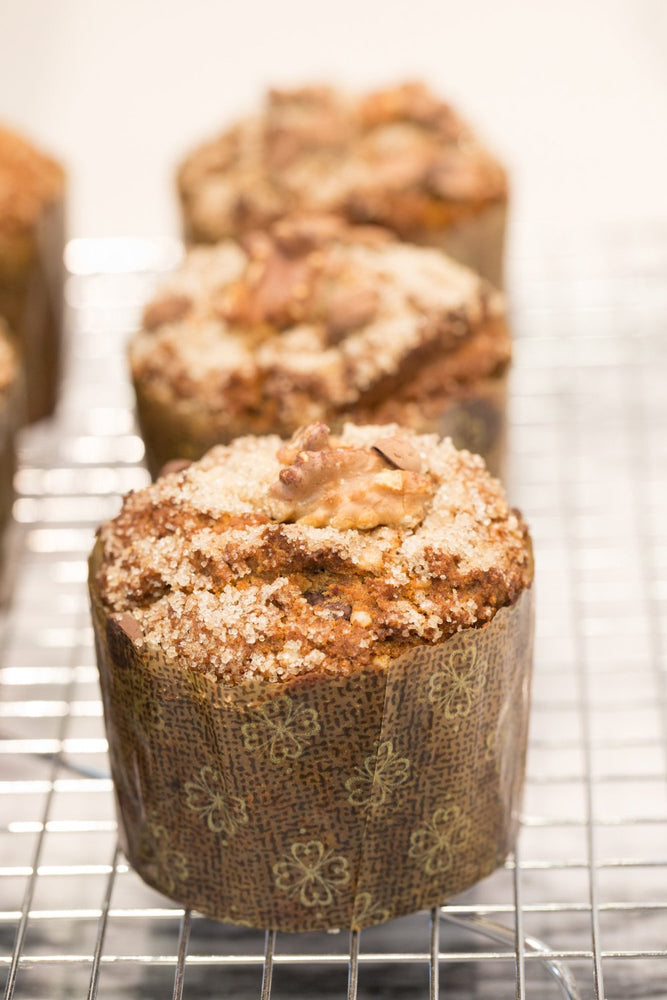 Load image into Gallery viewer, gluten free walnut muffins on cooling rack
