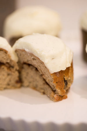 Load image into Gallery viewer, gluten free cinnamon buns with cream cheese frosting