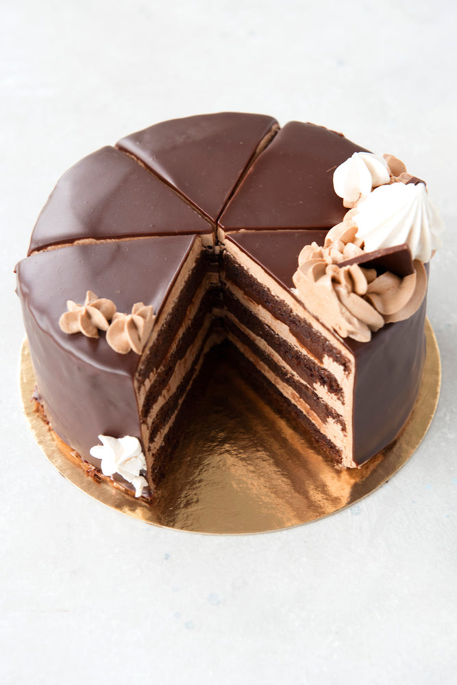 gluten free triple chocolate cake