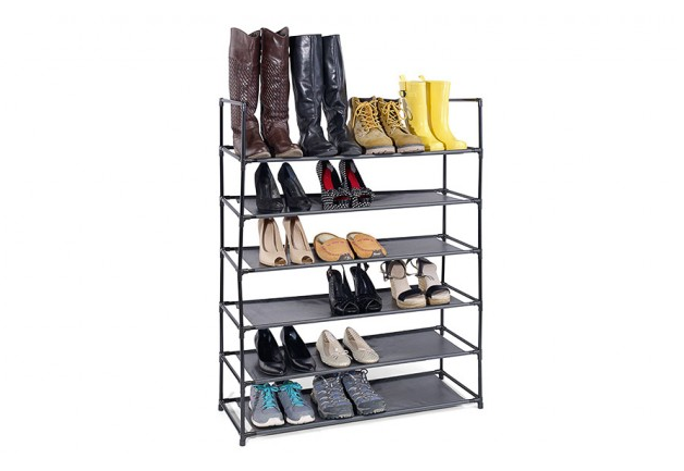 Store and organize up to 24 pairs of shoes!