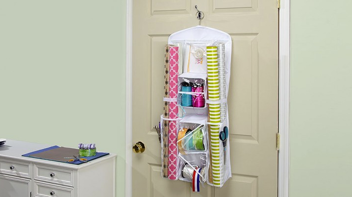 Store all your wrapping supplies in one space!