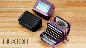 Buxton Palm Wallet protects you from identity theft while keeping your cash and credit cards safe.