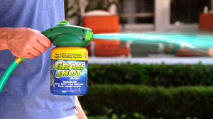 Grass Shot is the fastest, easiest way to get a lush lawn in time for summer.