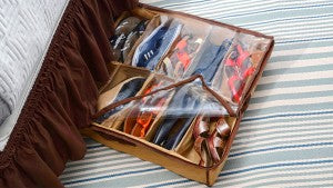 Organize your shoes or other accessories under your bed