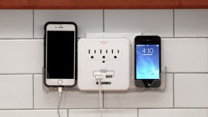 Charge your phone and electronics in a safe place