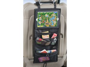 Backseat Tablet Organizer keeps your backseat and car super organized and free of clutter.