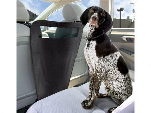 Use the Auto Pet Barrier to close the gap between the back and front seat.