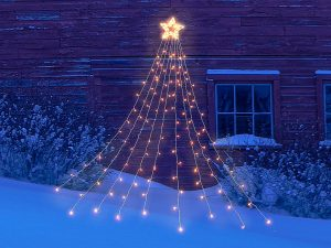Dress up the outdoors with the hanging light tree