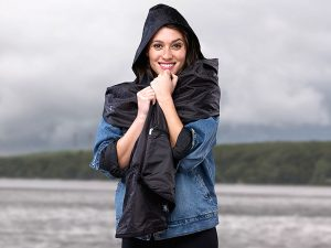 Reversible Rain Scarf is a multi functional accessory necessary for winter!