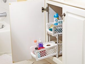 Organize under your bathroom cabinets