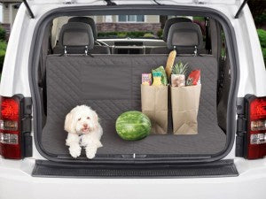 Keep your car clean from muddy paws with the Dual Purpose Cargo Back Seat Protector!