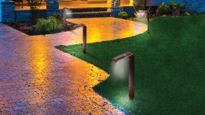 Line your sidewalk and driveway with Solar Pathway Lights.