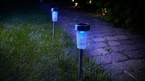 Keep disease-carrying bugs at bay with solar-powered bug zappers.
