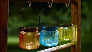 Use the power of the sun to light up these jars