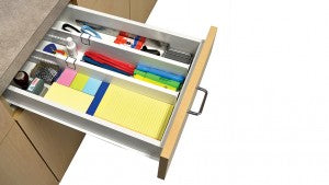 Organize your space with Snap Fit Drawer Dividers.