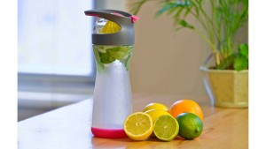 Infuse healthy water with fruit with Full Circle Wherever Water bottle