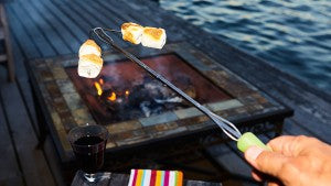 roast marshmallows with glow in the dark skewers