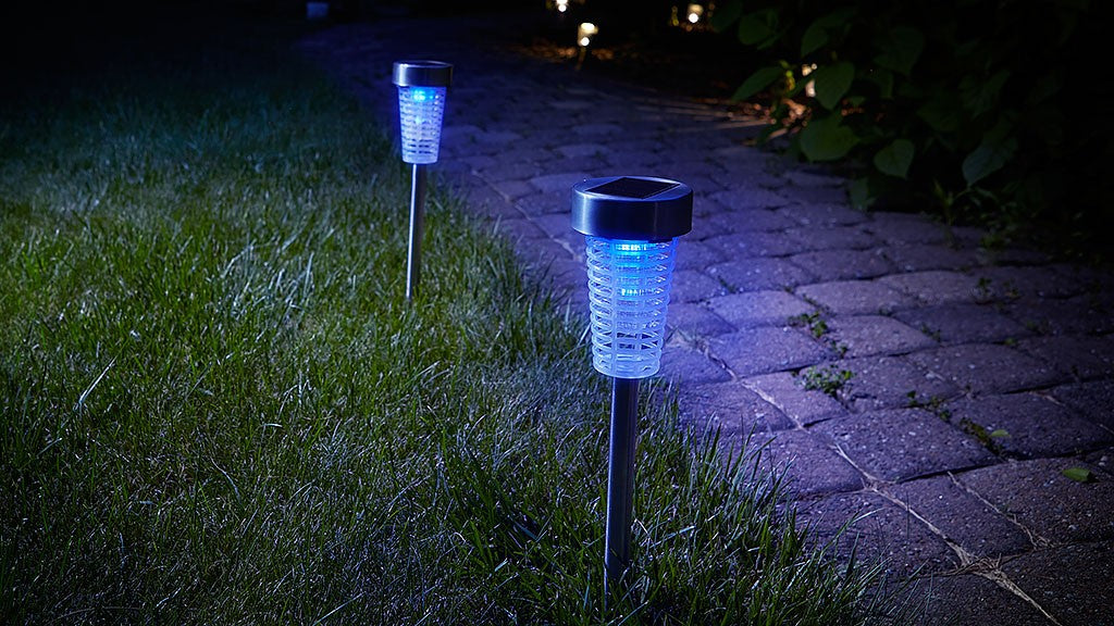 Solar Powered Bug Zappers are a great chemical-free way to stay bug-free this summer.