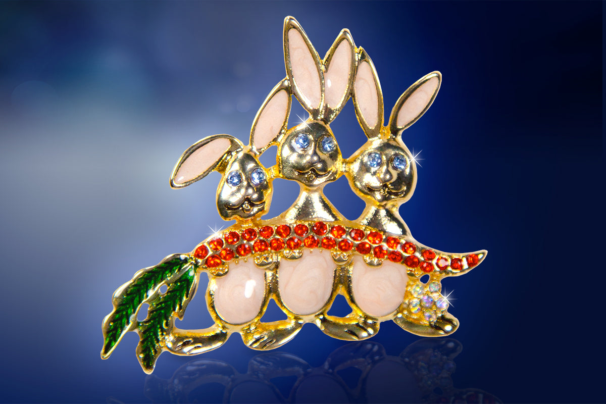 Bunny Pin for Easter