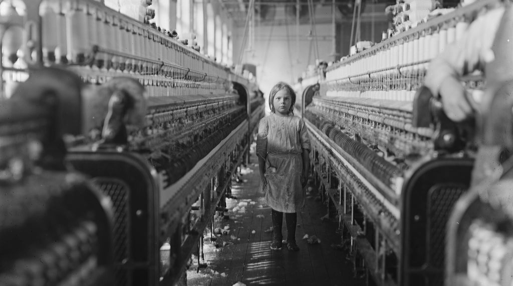 Child labor factory worker, public domain
