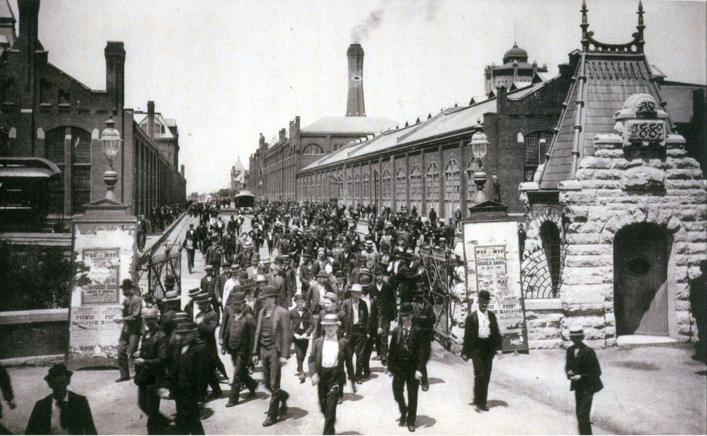 Workers Leave Pullman Palace Cars, 1893, Public Domain