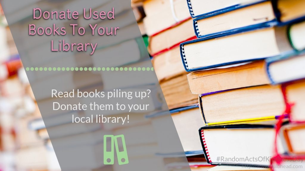 Donate books to your library