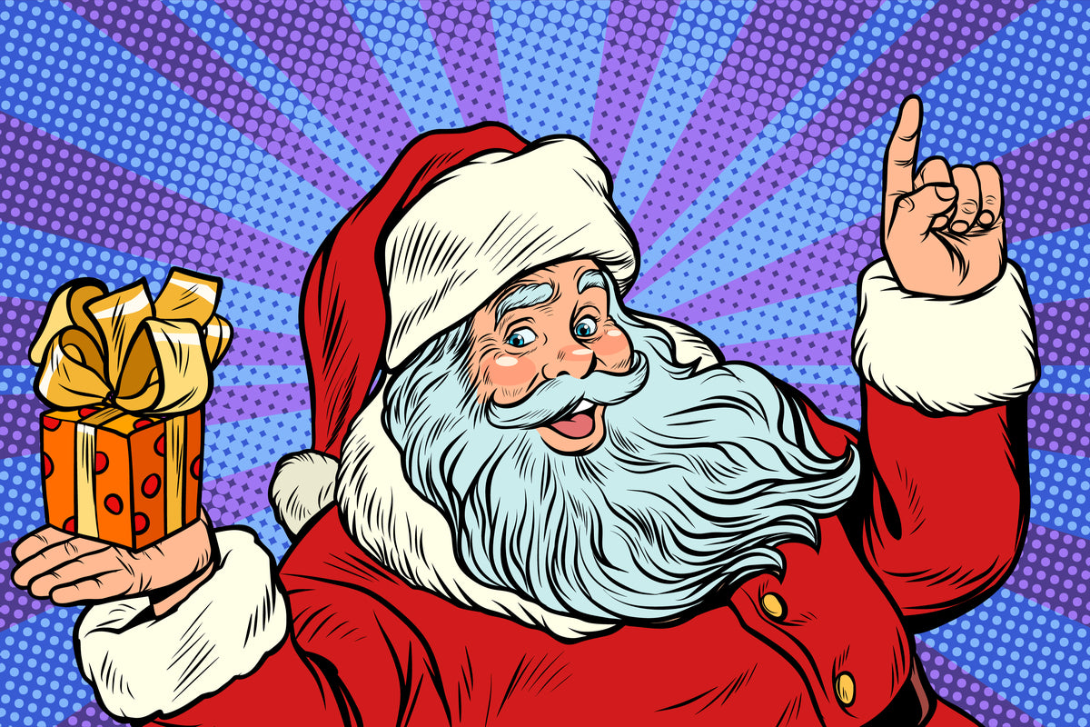 Santa Happy Pop Art