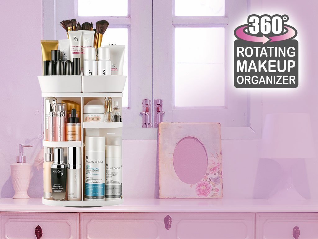 360-Degree Rotation Makeup Organizer image from BulbHead