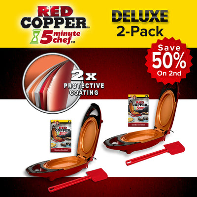 Deluxe Red Copper 5 Minute Chef 2-Pack