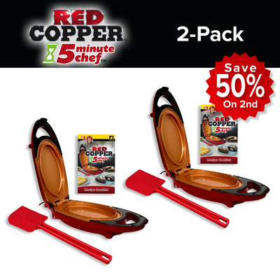Red Copper 5 Minute Chef 2-Pack