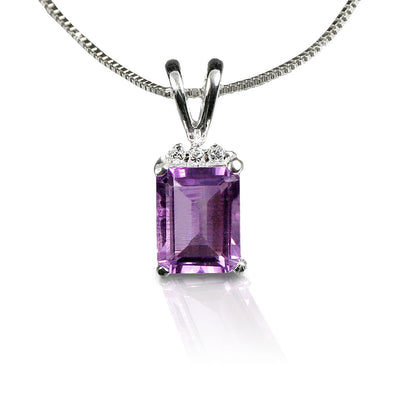 Emerald-Cut Amethyst Necklace