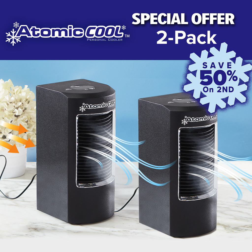 Atomic Cool Portable Personal Cooling System 2-Pack special offer save 50% on the 2nd