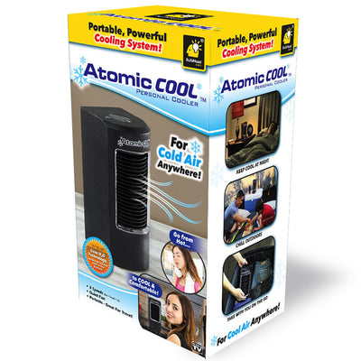 Atomic Cool Portable Personal Cooling System packaging silo image