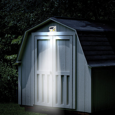 Atomic Beam SunBlast Motion Sensor Light on top of a shed