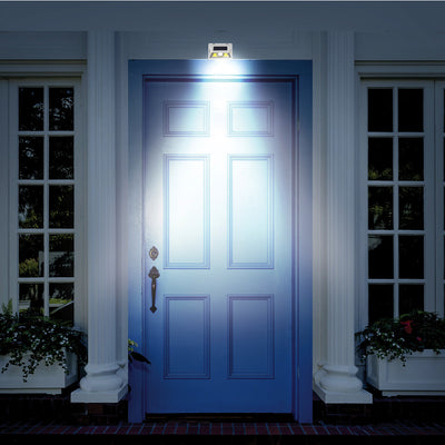 Atomic Beam SunBlast Motion Sensor Light lit on the front door