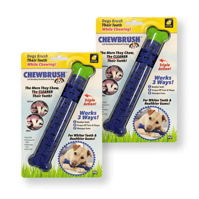 Two Chewbrush in their packaging