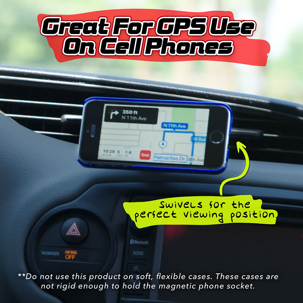 Cell phone attached to FastBall, great for GPS use