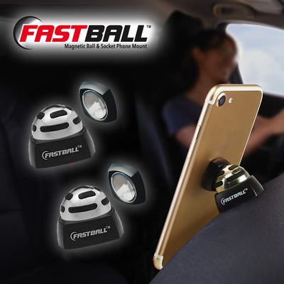 Two FastBall and one shown in use in a car