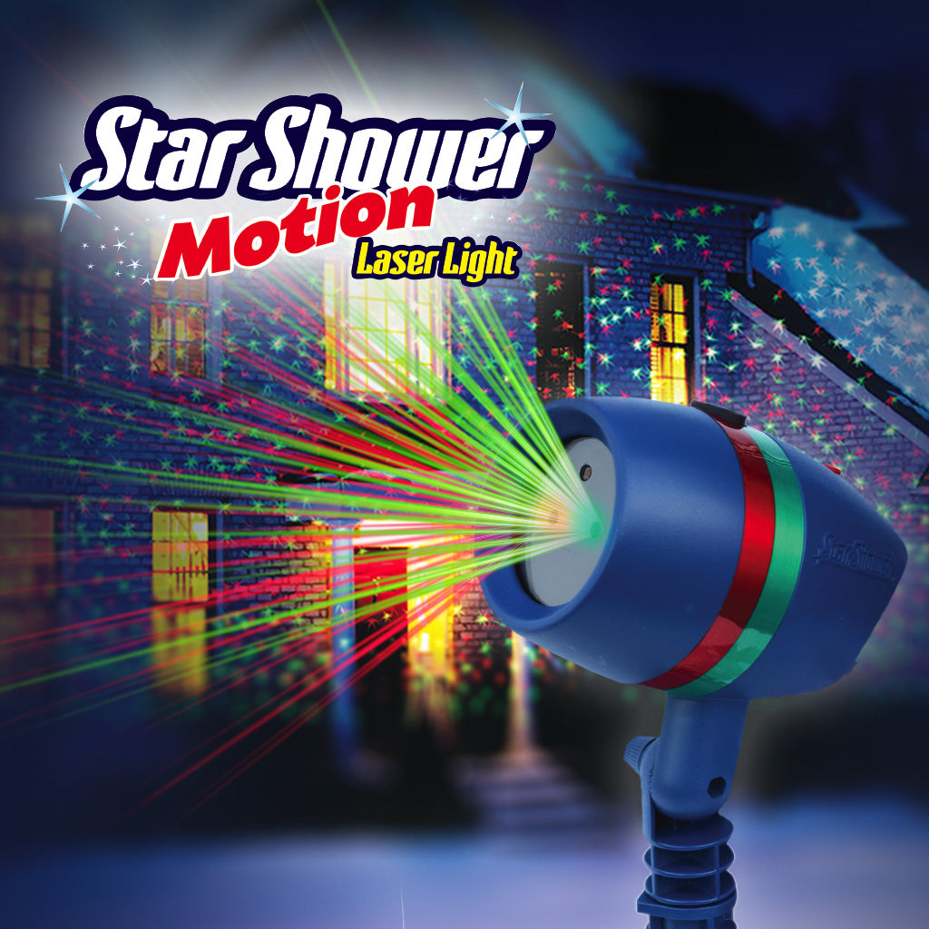 Star shower motion projection christmas laser lights with star shower motion bulbhead for Avis star shower motion