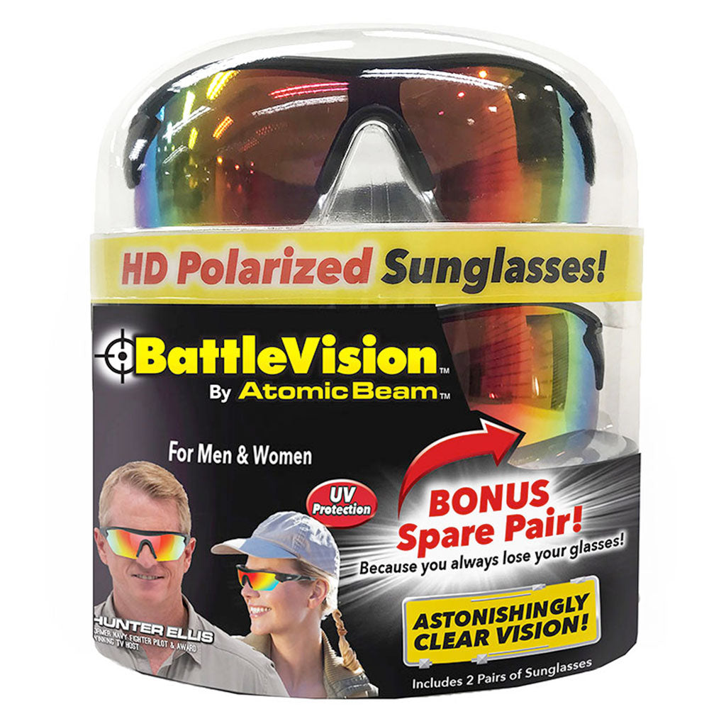 Battle Vision Polarized Sunglasses Deluxe Bundle