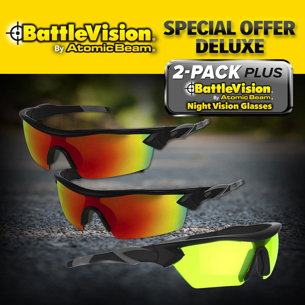 Battle Vision Sunglasses 2-pack and Night Vision glasses
