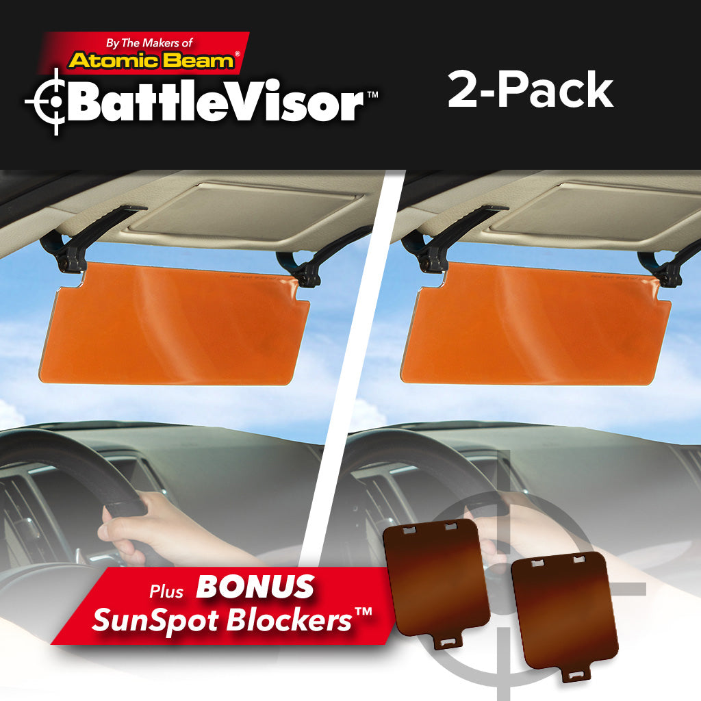 Battlevisor 2-pack with bonus sun spot blockers