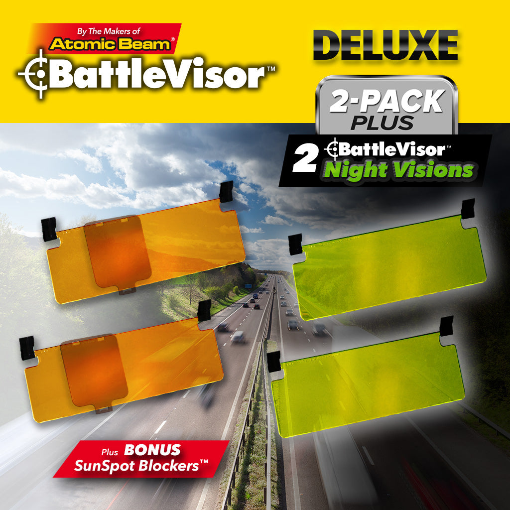 Battlevisor Deluxe 2-pack, battlevisor with sun spot blocker and night vision visor
