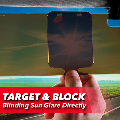 Sun spot blocker used on the visor to block the sun