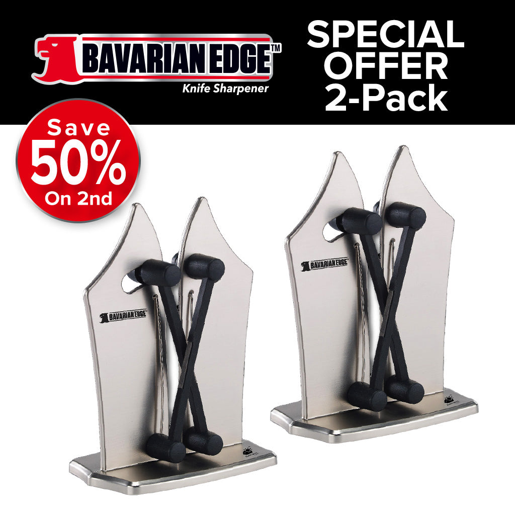 Bavarian Edge Knife Sharpener 2-Pack special offer save 50% on the 2nd